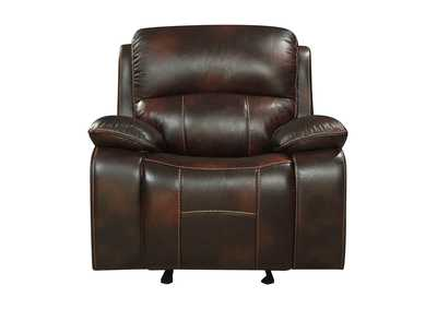 Dark Brown Glider Reclining Chair,Homelegance
