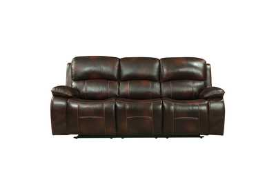 Dark Brown Double Reclining Sofa,Homelegance