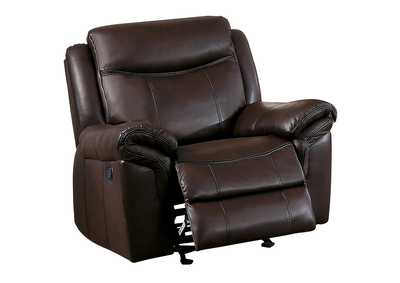 Image for Dark Brown Glider Reclining Chair