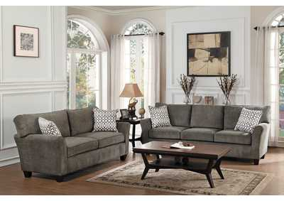 Brown Gray Sofa,Homelegance