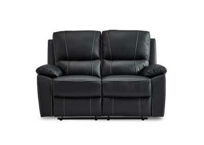 Black Double Reclining Love Seat,Homelegance