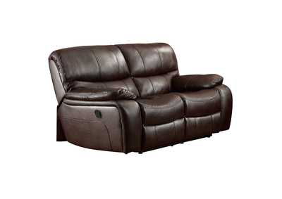 Image for Dark Brown Double Reclining Love Seat
