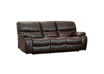 Dark Brown Power Double Reclining Sofa