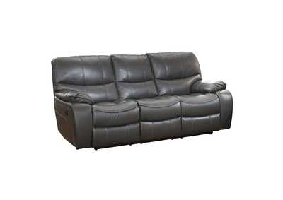 Gray Power Double Reclining Sofa
