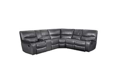 Gray 3-Piece Modular Reclining Sectional with Left Console,Homelegance