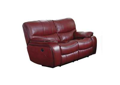 Red Power Double Reclining Love Seat,Homelegance