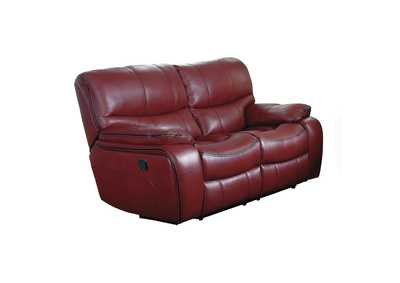Red Double Reclining Love Seat,Homelegance