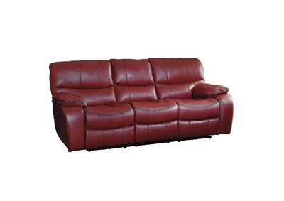 Red Power Double Reclining Sofa