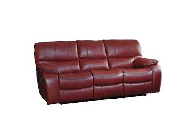 Red Double Reclining Sofa,Homelegance
