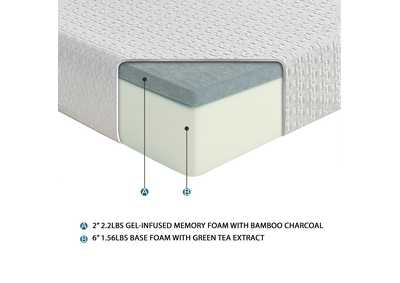 "Image for White 8"" Queen Gel Mattress"