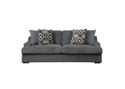 Image for Dark Gray Sofa with 4 Pillows