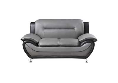 Image for Gray & Black Love Seat