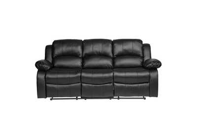 Black Double Reclining Sofa