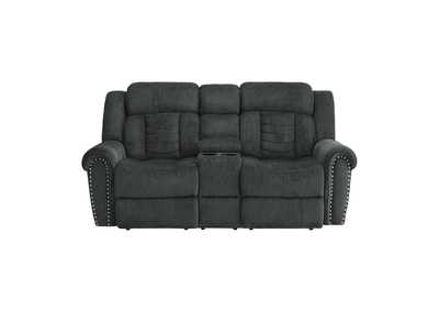 Image for Charcoal Gray Double Reclining Love Seat with Center Console