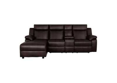 Image for Dark Brown 2-Piece Reclining Sectional with Left Chaise
