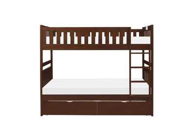 Image for Cherry Twin/Twin Bunk Bed with Storage Boxes
