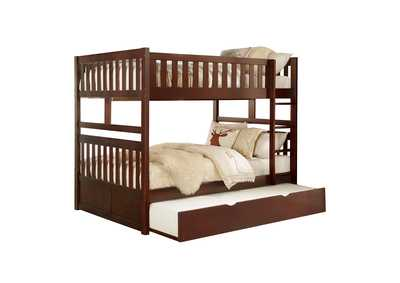 Image for Cherry Full/Full Bunk Bed with Twin Trundle