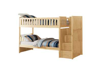 Image for Bartly Pine Bunk Bed W/ Reversible Step Storage