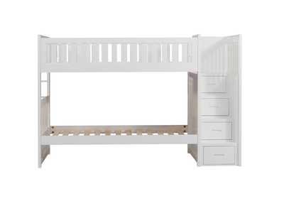Image for White Twin/Twin Step Bunk Bed