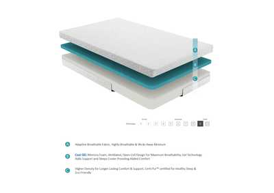 "Image for Bedding White 6"" Gel Twin Mattress"