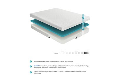 "Image for Bedding White 8"" Gel Queen Mattress"
