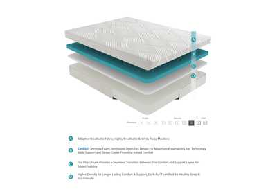 "Image for G 10'' Gel-Infused Memory Foam-Bedding White 10"" Full Gel Mattress"