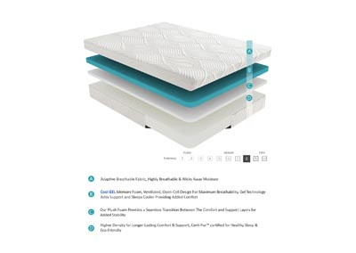 "Image for Bedding White 10"" Twin XL Gel Mattress"