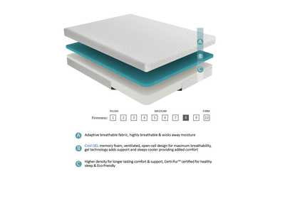 Image for G 8'' Gel-Infused Memory Foam-Bedding White Twin Mattress