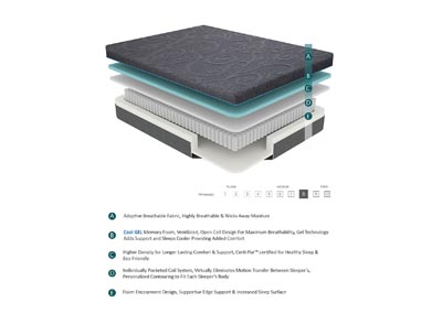 "Image for Bedding Grey 8"" Gel Hybrid Queen Mattress"