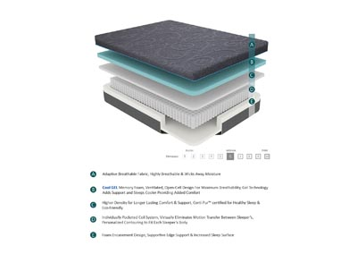 "Image for Bedding Grey 11"" Gel Hybrid Eastern King Mattress"