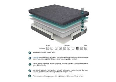 "Image for H 8'' Gel-Infused Memory Foam Hybrid-Bedding Gray 8"" Queen Gel Hybrid Mattress"