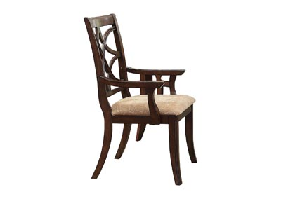 Image for Keegan Beige Arm Dining Chair [Set of 2]