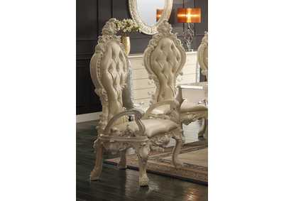 Image for Antique White Arm Dining Chairs [Set of 2]