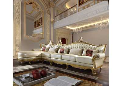 Image for Metallic Antique Gold 3 Piece Sectional Sofa