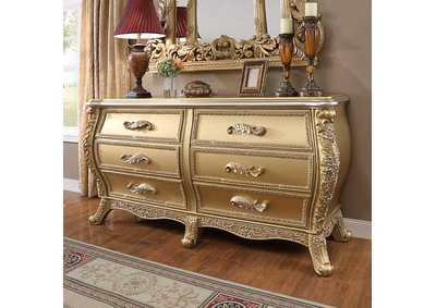 Image for Metallic Antique Gold Dresser