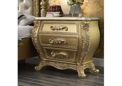 Image for Metallic Antique Gold Nightstand