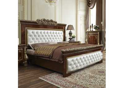 Image for Burl & Metallic Antique Gold California King Bed