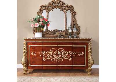 Image for Burl & Metallic Antique Gold Buffet