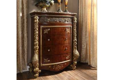 Image for Burl & Metallic Antique Gold Chest