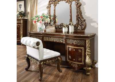 Image for Burl & Metallic Antique Gold Dresser