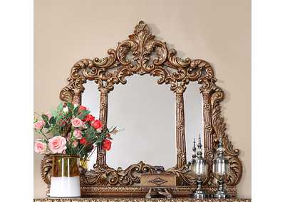 Image for Burl & Metallic Antique Gold Mirror