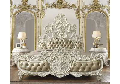 Image for Antique White & Gold California King Bed