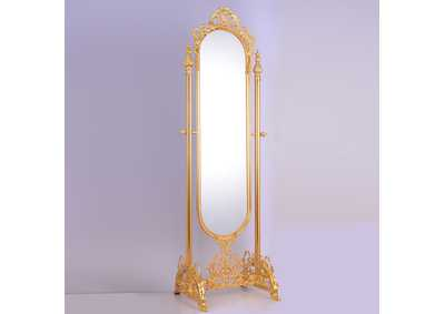 Image for Golden Brass Floor Mirror