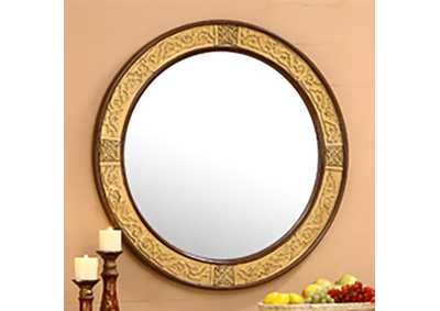 Image for Mahogany & Metallic Gold Mirror