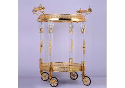 Image for Golden Brass Bar Cart