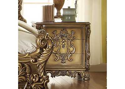 Image for Metallic Antique Gold Night Stand