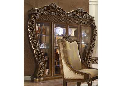 Image for Metallic Antique Gold China Cabinet