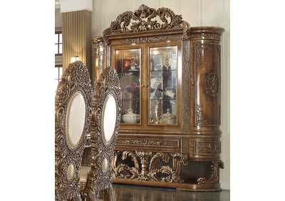 Image for Antique Gold & Brown China Cabinet