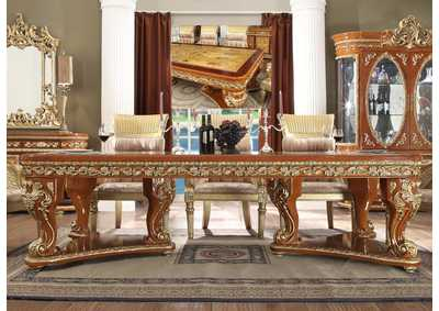 Image for Metallic Bright Gold & Medium Golden Tan Dining Table
