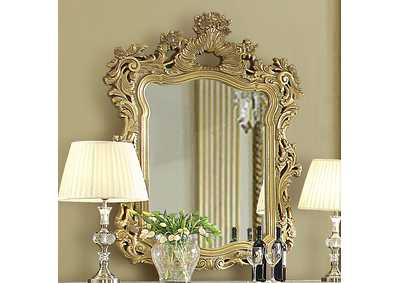 Image for Ivory & Metallic Antique Gold Mirror